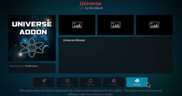 universe kodi