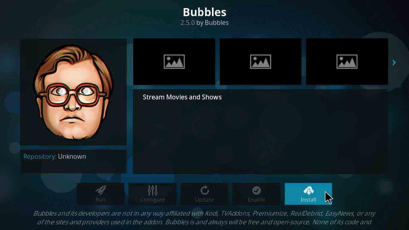 bubble kodi addon