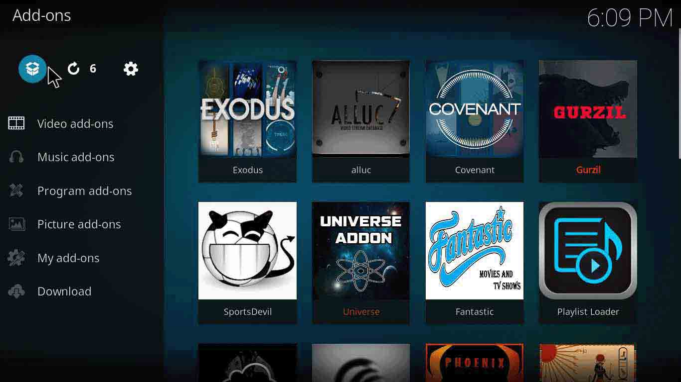 how to add incursion kodi addon