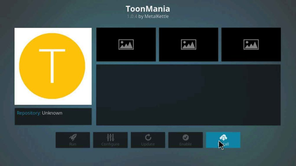 toonamania kodi download