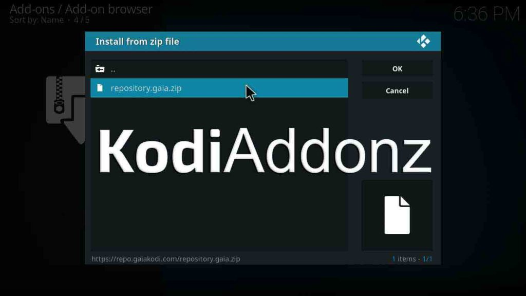 gaia kodi download