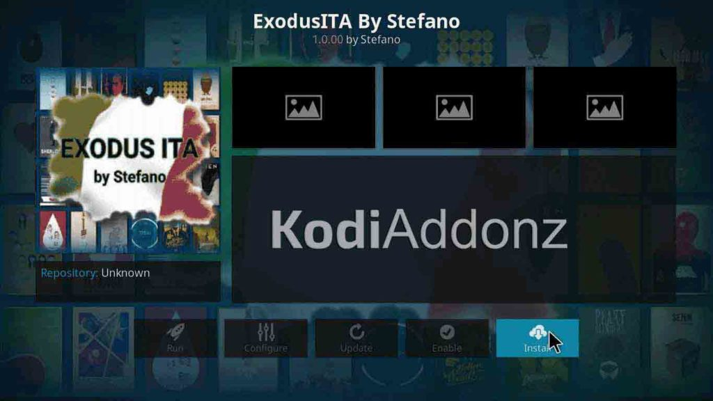 how to install exodus ita kodi on jarvis version 16 or higher