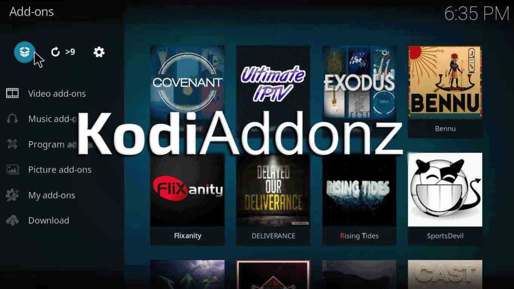 how to install gaia kodi on jarvis version 16 or higher